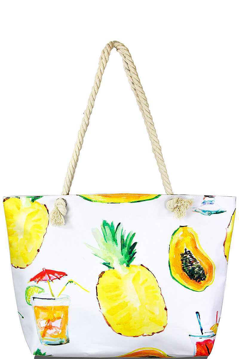 Summer Fruits Beach Bag