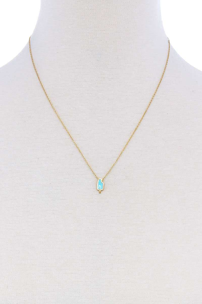 Cute Fashion Accent Brass Necklace