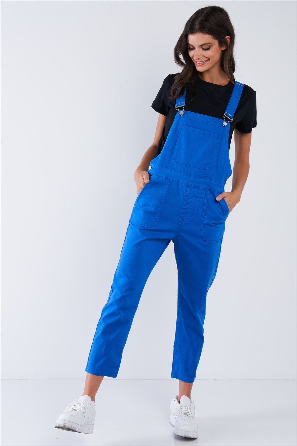 Royal Blue Soft Ankle Length Overall
