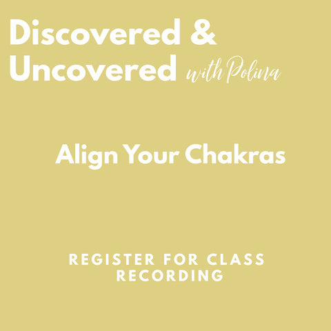 RECORDING: Align your Chakras with Yoga & Essential Oils