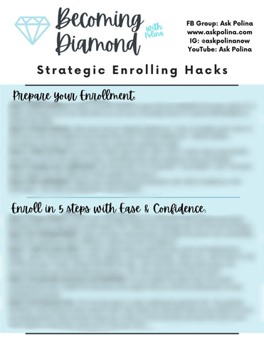PDF Download: Becoming Diamond: Strategic Enrolling Hacks
