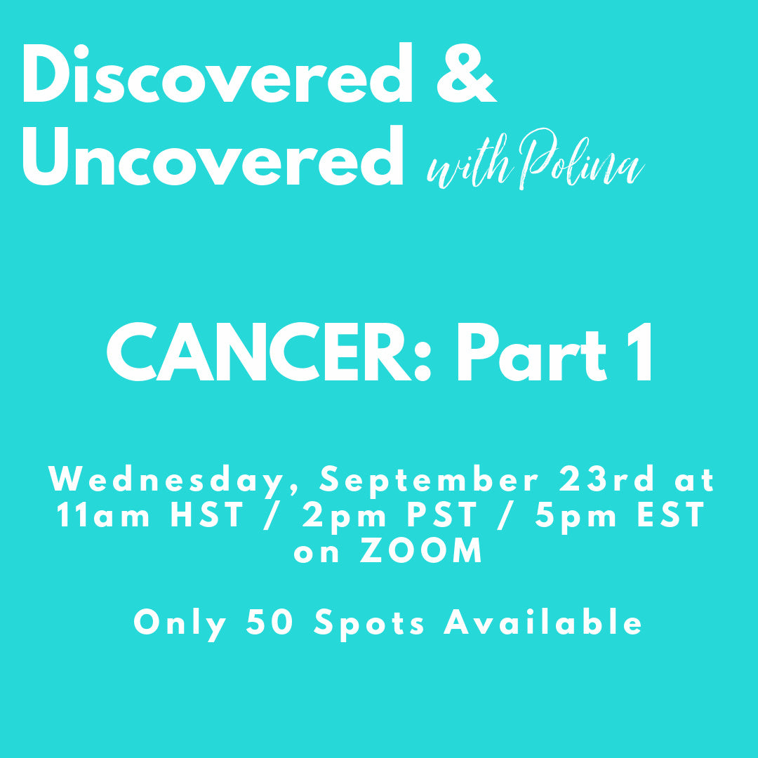 RECORDING: Discovered & Uncovered: CANCER Part 1