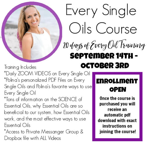 RECORDING: NEW Essential Oils Course: Single Oils
