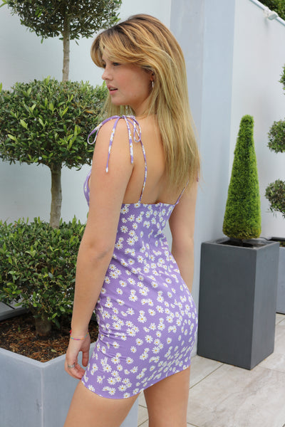 Daisy Mini Dress in Lilac