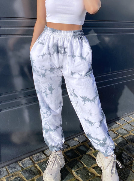 Milo Oversized Joggers in Grey Tie Dye