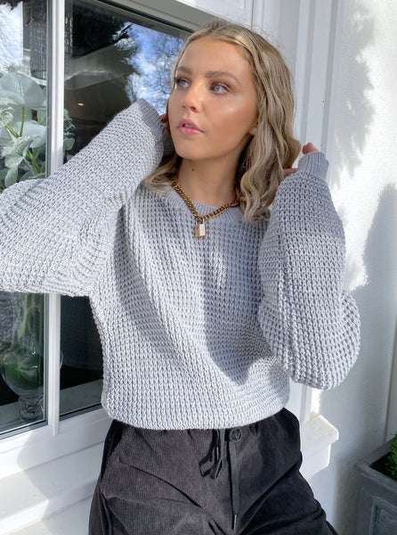 Geneva Knitted Jumper in Grey
