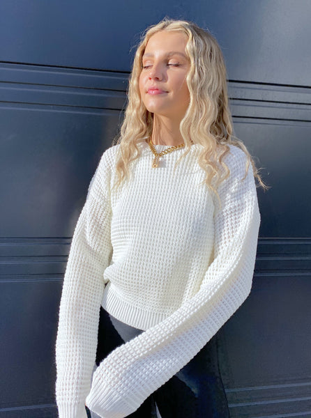 Geneva Knitted Jumper in Cream