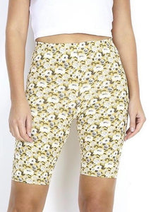 Ditsy Floral Cycling Shorts in Yellow