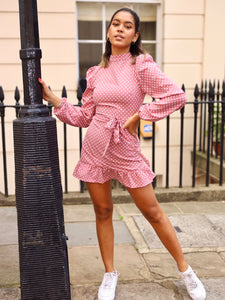 Honey Polka Dot Puff Sleeve Mini Dress