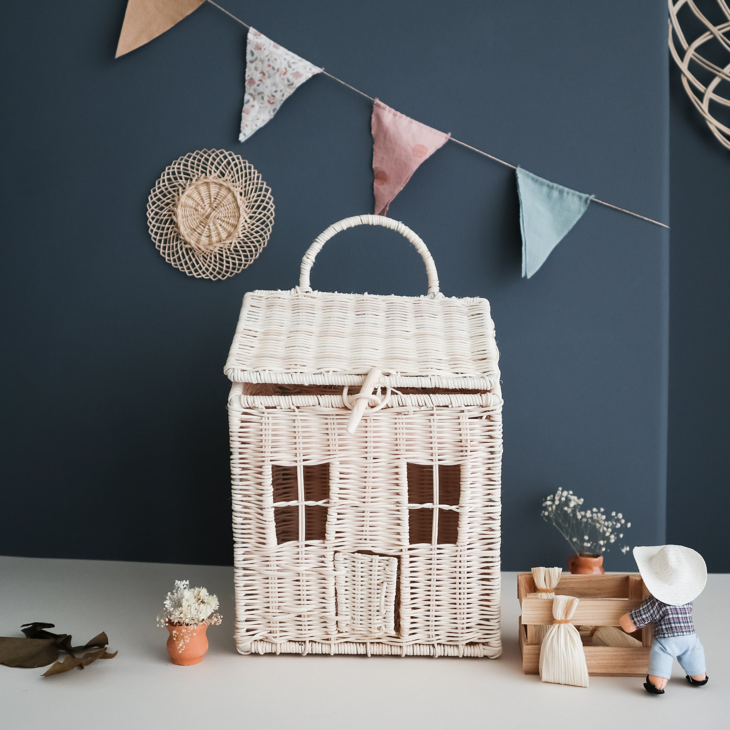 rattan doll house coconeh