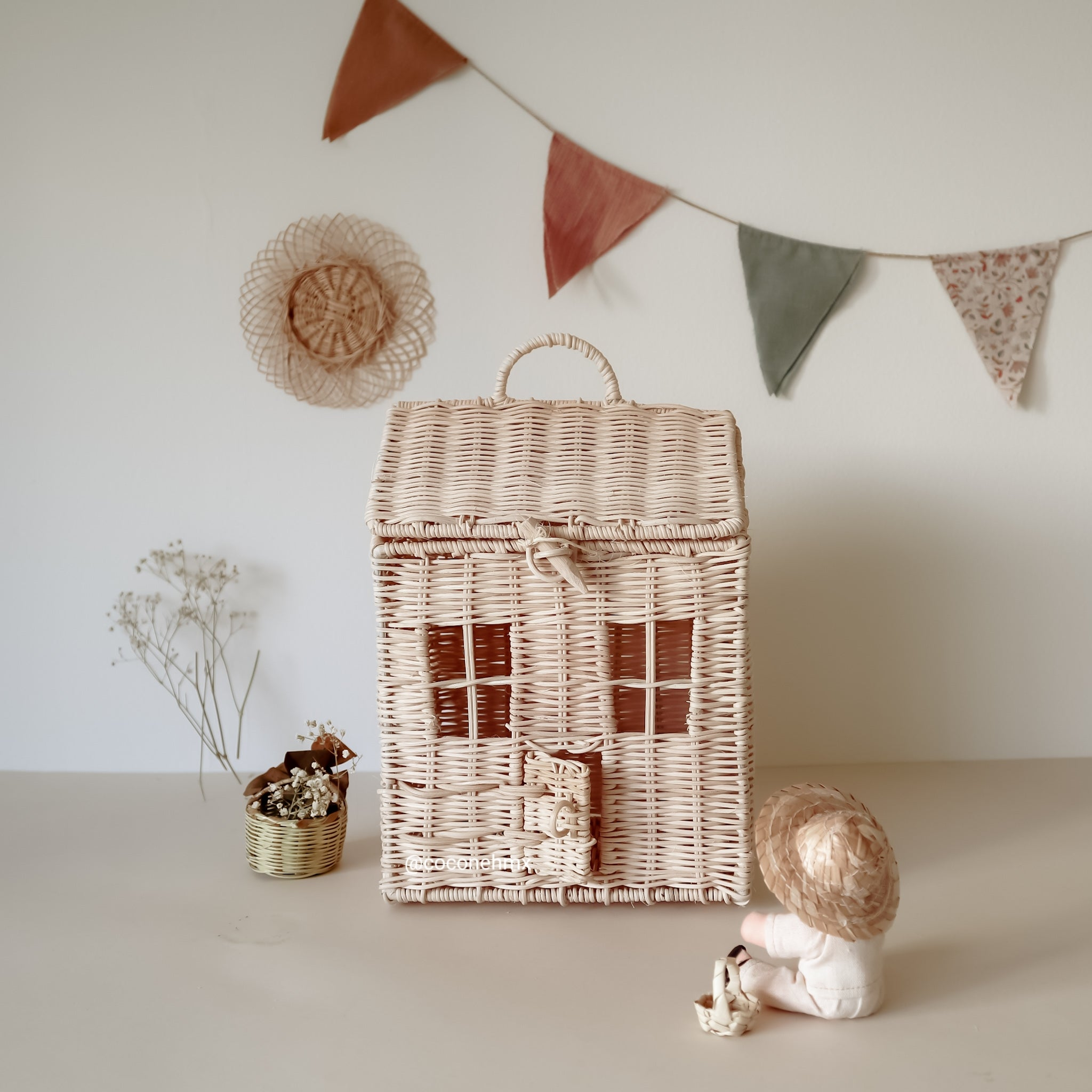doll house wicker kids olli ella coconeh