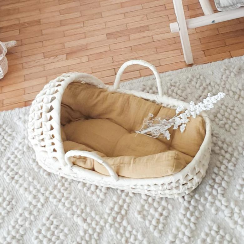 palm leaf travel cot