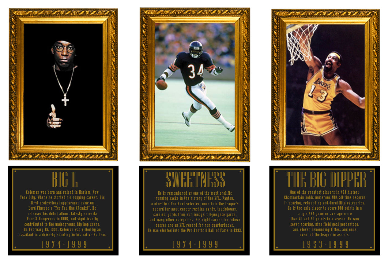 Legends Hall of Fame - Big L, Walter Sweetness Payton, Wilt Chamberlain