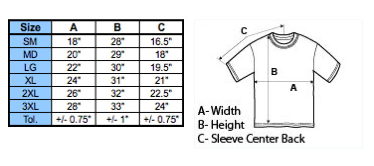 Shirt Sizing Specifications