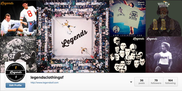 Legends Clothing Company Instagram
