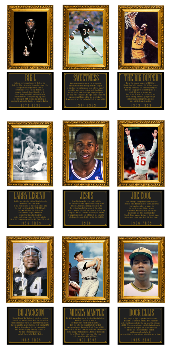 Legends Clothing Company Blog - Legends Presents Hall of Fame