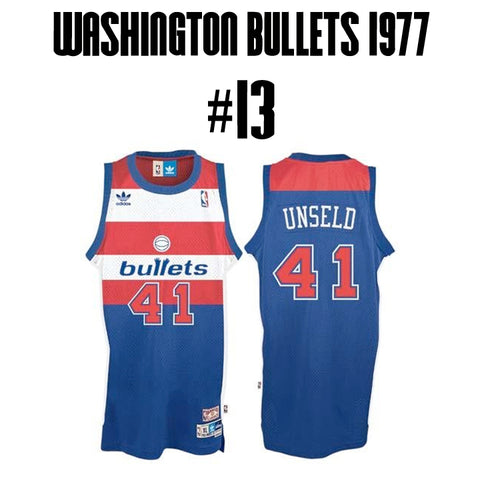 Bullets Greatest Jersey of All Time