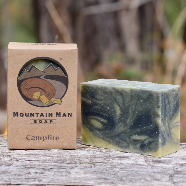 Mountain Man Soap, Soap for Men, Beard Soap, Campfire Smoke Scent