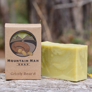 Mountain Man Soap, Soap for Men, Beard Soap, Grizzly Bear'd