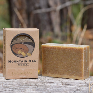 Mountain Man Soap, Soap for Men, Beard Soap, Lumberjack Sawdust Scent