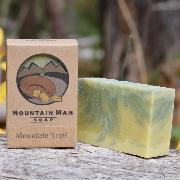 Mountain Man Soap, Soap for Men, Beard Soap, Mountain Trail Forest Scent, Pine and Cedar Soap