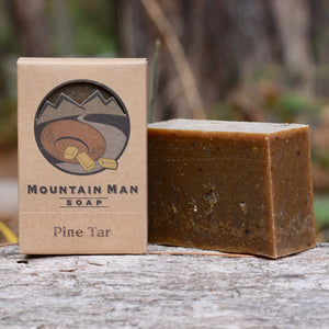Mountain Man Soap, Soap for Men, Beard Soap, Pine Tar Soap