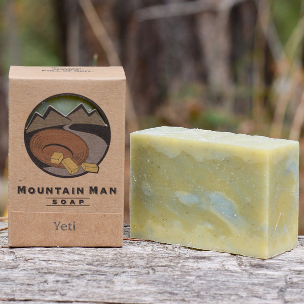 Mountain Man Soap, Soap for Men, Beard Soap, Yeti, Peppermint Soap, Menthol Soap, Cooling Soap