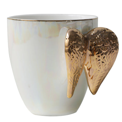 Gold Angel Wings Coffee Mug