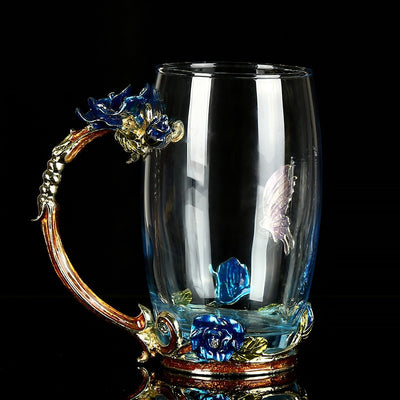 Luxury Rose Crystal Coffee Cup