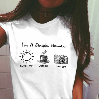 """Simple Woman"" Coffee T Shirt"