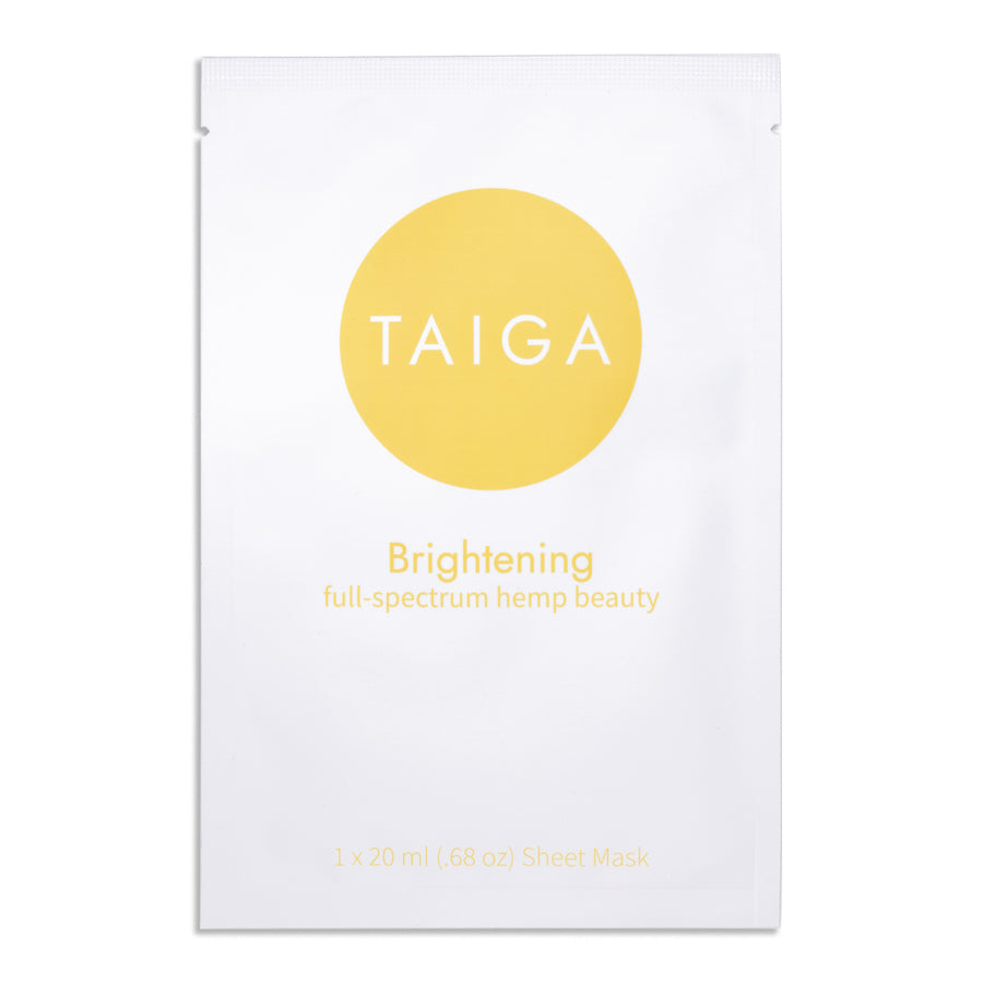 Brightening and Hydrating Hemp Infused Sheet Mask
