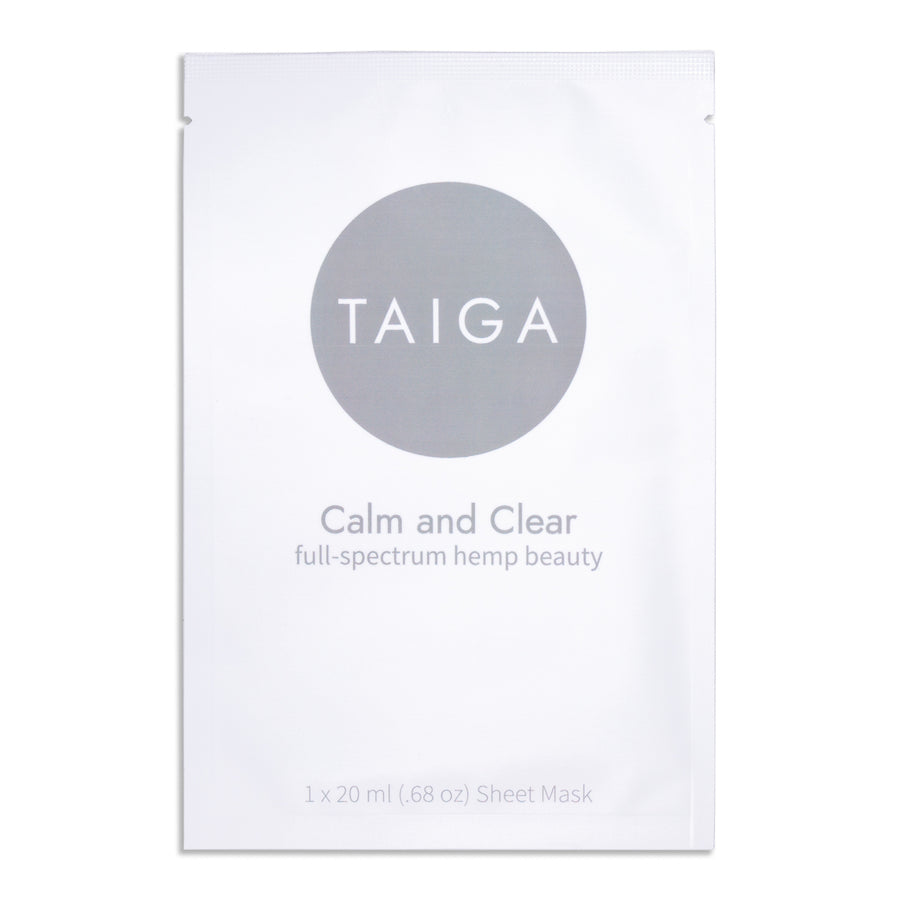 Calm and Clear Hemp Infused Sheet Mask- Taiga