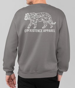 Made to Coexist Sweatshirt - White Tiger Back Print