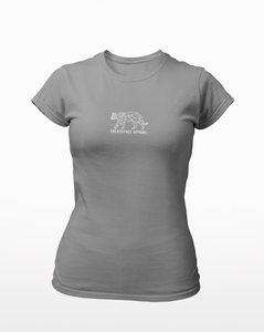 Womens White Tiger Tee