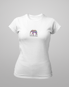 Womens Rainbow Elephant Tee