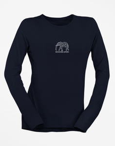 Womens Long Sleeve White Elephant Tee