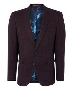 Remus Uomo - Jacket - Burgundy Check