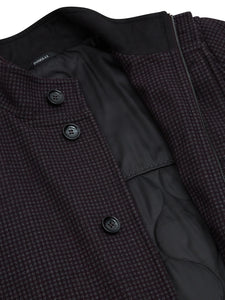 Douglas - Coat - Wine/Grey Check