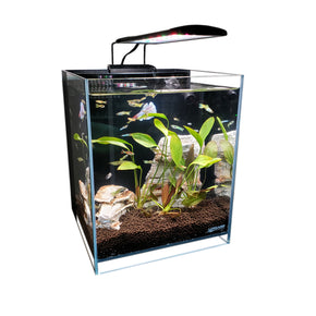 "8.3 Gallons 45° Beveled Edge Low Iron Ultra Clear Aquarium - 11.81"" x 11.81"" x 13.77"""