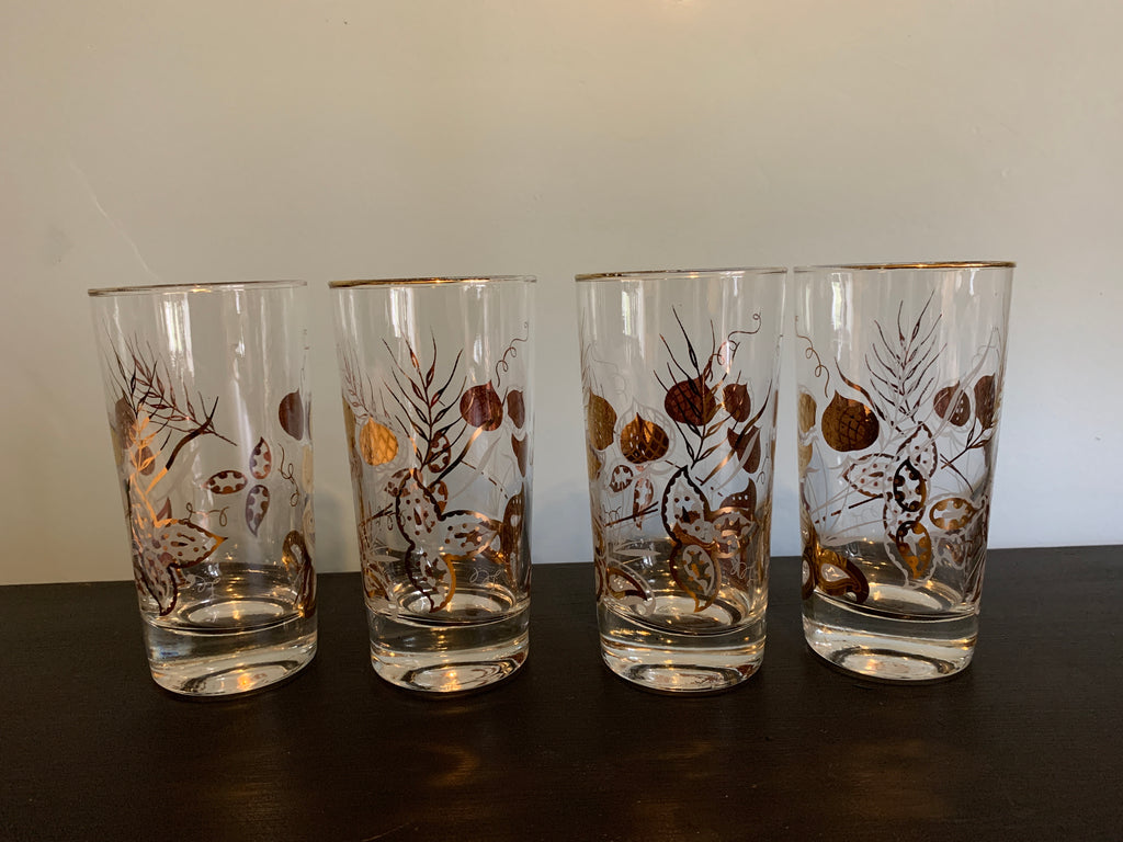 Set of 4 Vintage Drinking Glasses