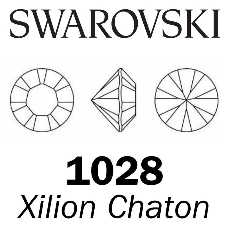 SWAROVSKI  Wholesale Xilion Chaton 1028 Jet (Unfoiled) - Factory Pack