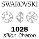 SWAROVSKI  Wholesale Xilion Chaton 1028 Jet Hematite (Unfoiled) - Factory Pack
