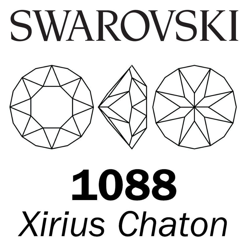 SWAROVSKI  Wholesale Xirius Chaton 1088 Crystal Blue Shade - Factory Pack