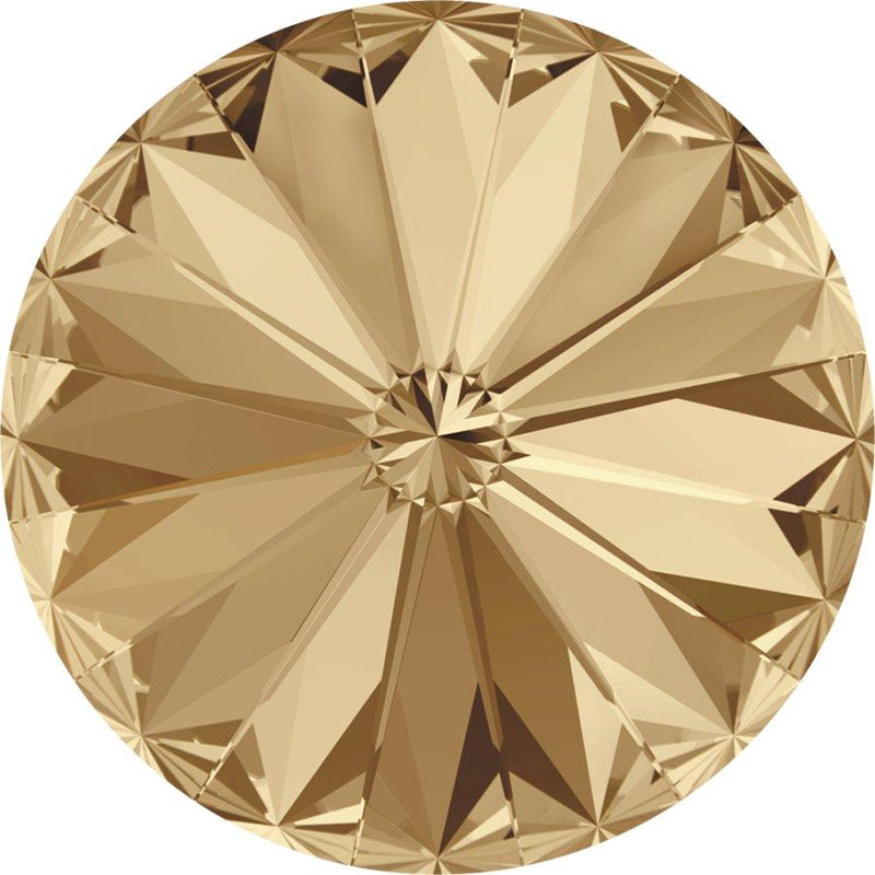 SWAROVSKI Rivoli Stone 1122 Crystal Golden Shadow