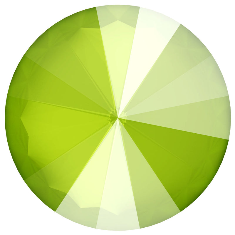 SWAROVSKI Rivoli Stone 1122 Crystal Lime (Unfoiled)