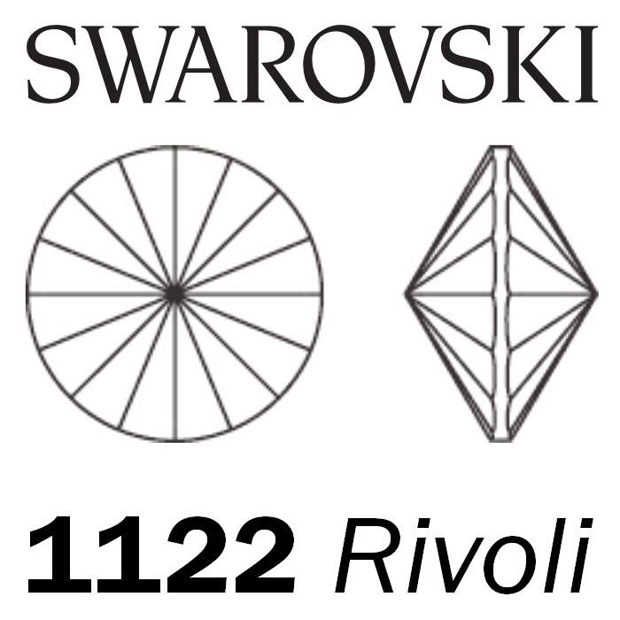 SWAROVSKI  Wholesale Rivoli Stone 1122 Smoked Topaz - Factory Pack