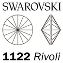 SWAROVSKI  Wholesale Rivoli Stone 1122 Crystal Summer Blue (Unfoiled) - Factory Pack
