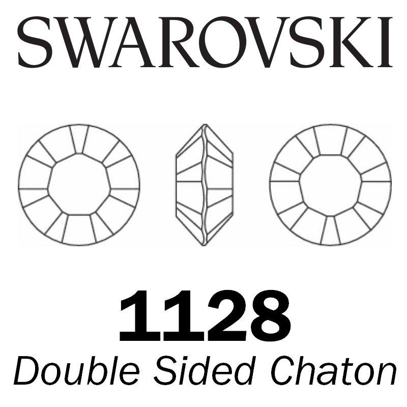 SWAROVSKI  Wholesale Double Sided Chaton 1128 Amethyst (Unfoiled) - Factory Pack