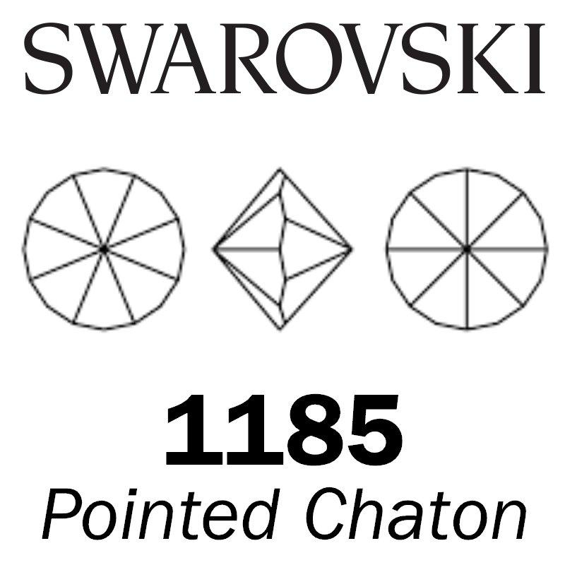 SWAROVSKI  Wholesale Pointed Chaton 1185 Jet (Unfoiled) - Factory Pack