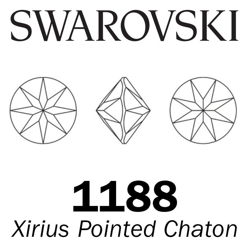 SWAROVSKI  Wholesale Xirius Pointed Chaton 1188 Rose - Factory Pack